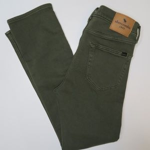 Abercrombie Kid Girls Skinny Jeans 15 16 Green